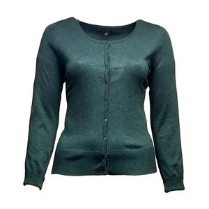 Lane Bryant Forest Green Cardigan Sweater 18/20